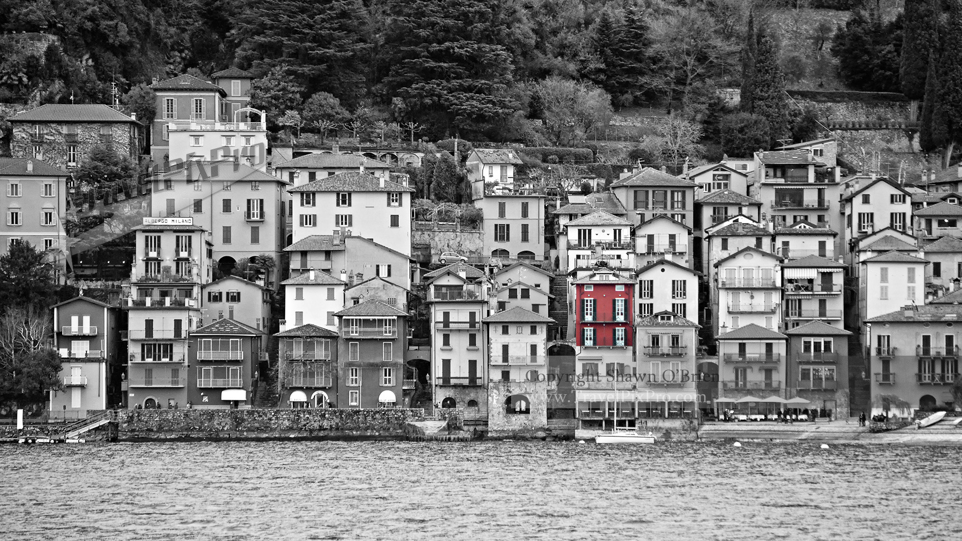 Lake Como Village Color Splash