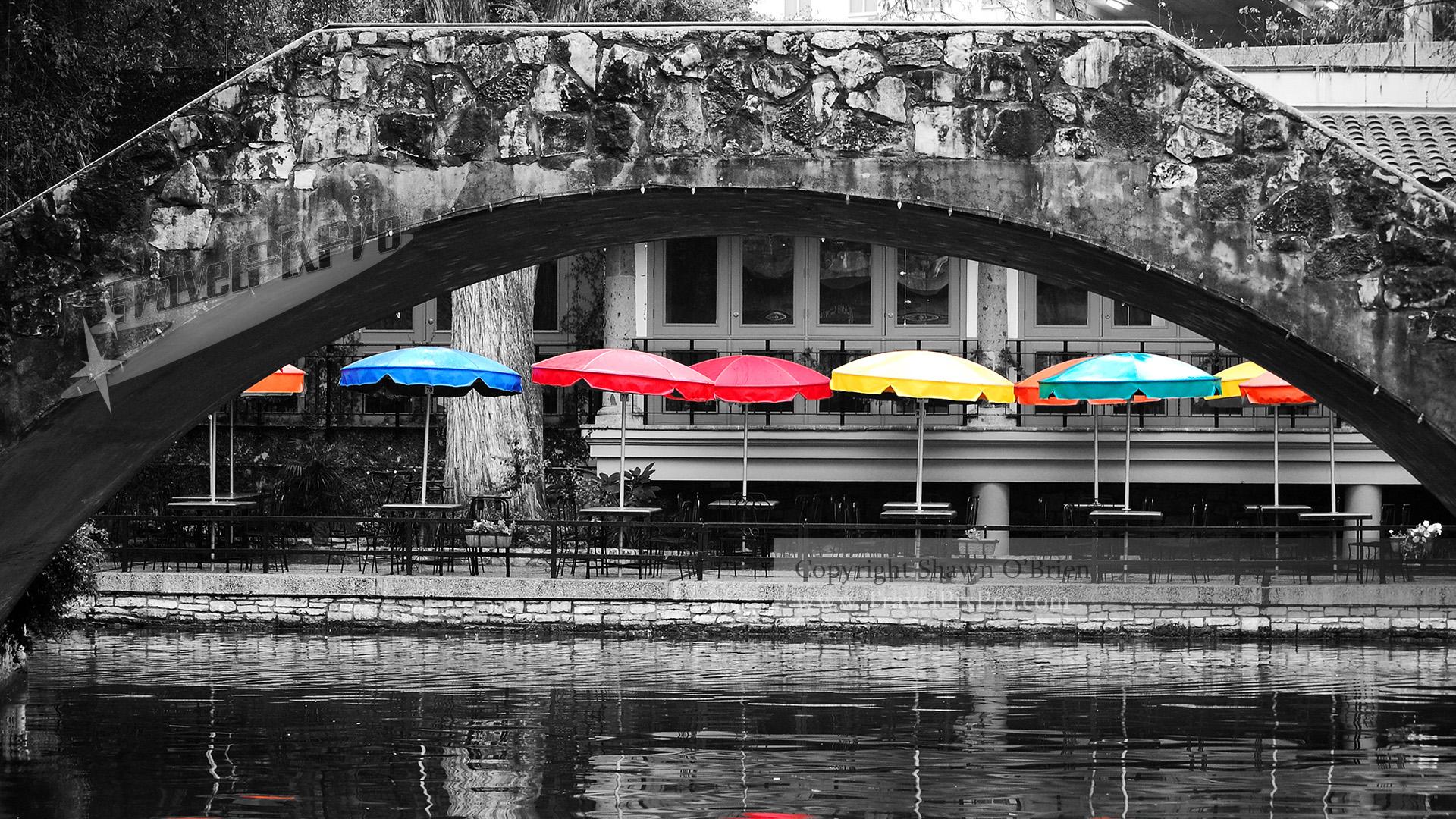 San Antonio Riverwalk Umbrellas