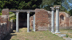 Street Scene & Columns Ostia Antica