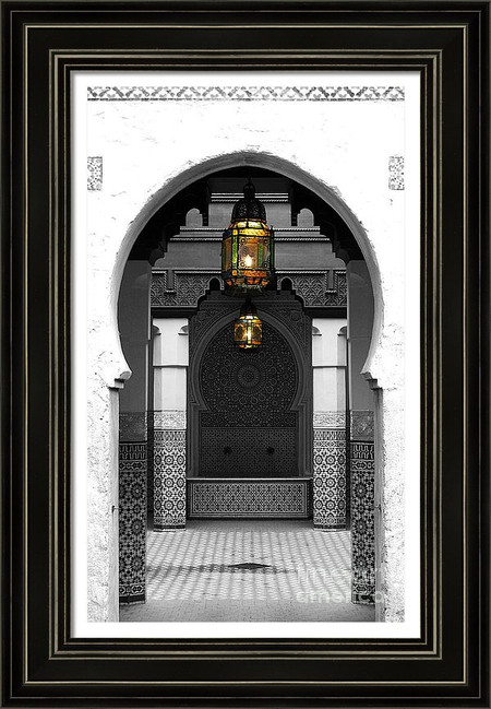 Moroccan Doorway and Courtyard
