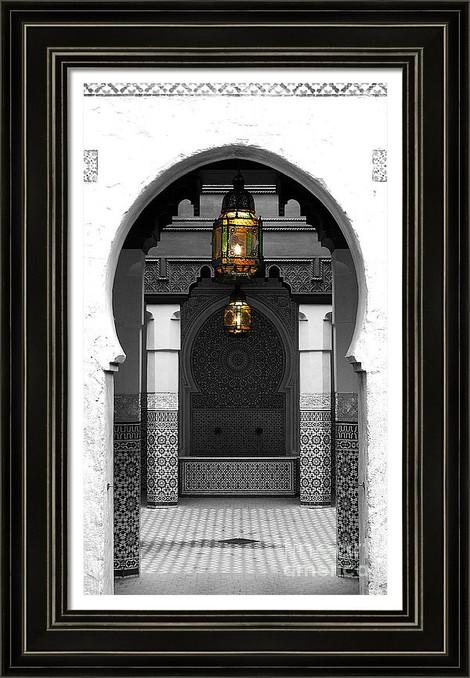 Moroccan Doorway and Courtyard