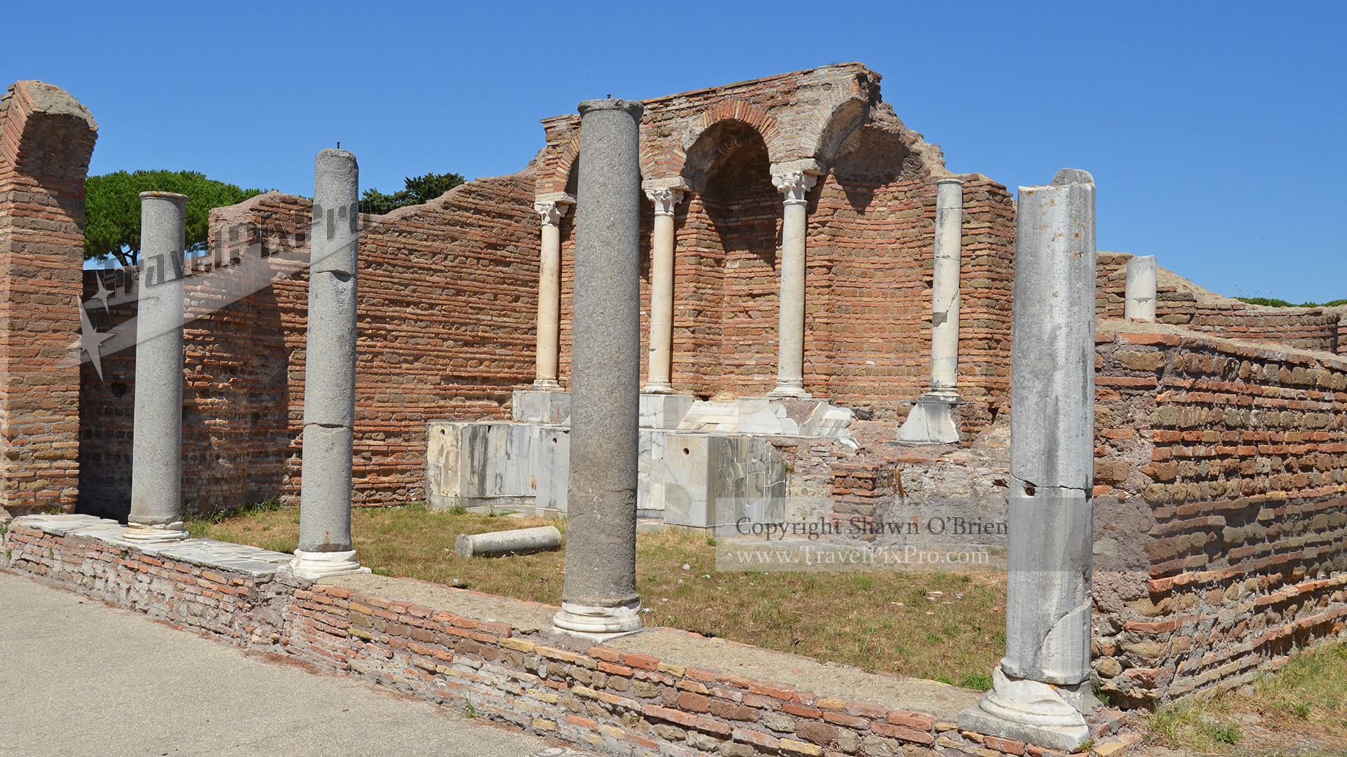 Ostia Antica Public Baths Entrance