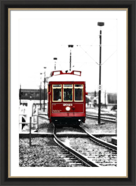 Red New Orleans Streetcar