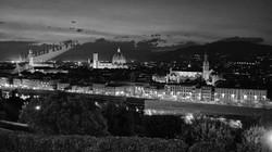 Florence Italy Nighttime Skyline