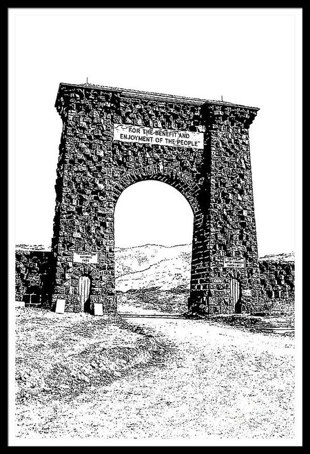 Roosevelt Arch 1903 Yellowstone