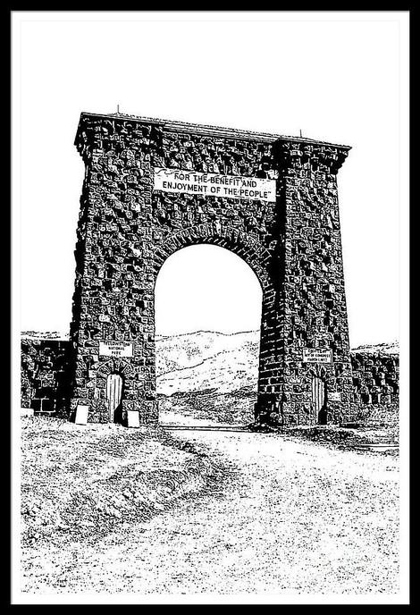 Roosevelt Arch 1903 Yellowstone