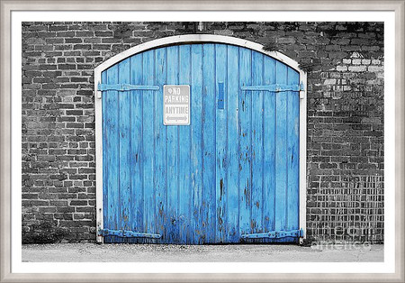 Orleans Blue Garage Door