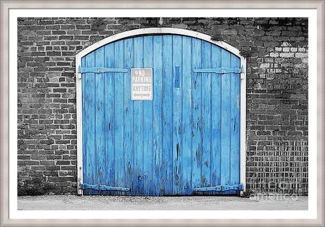 Orleans Blue Garage Door