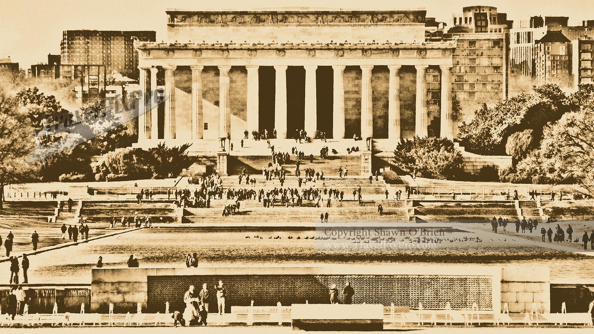 Lincoln Memorial Crowd