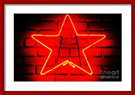 Glowing Red Neon Star