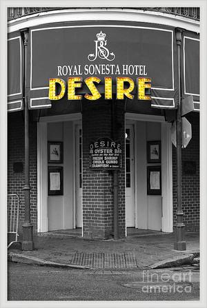 Desire Corner Color Splash Black and White