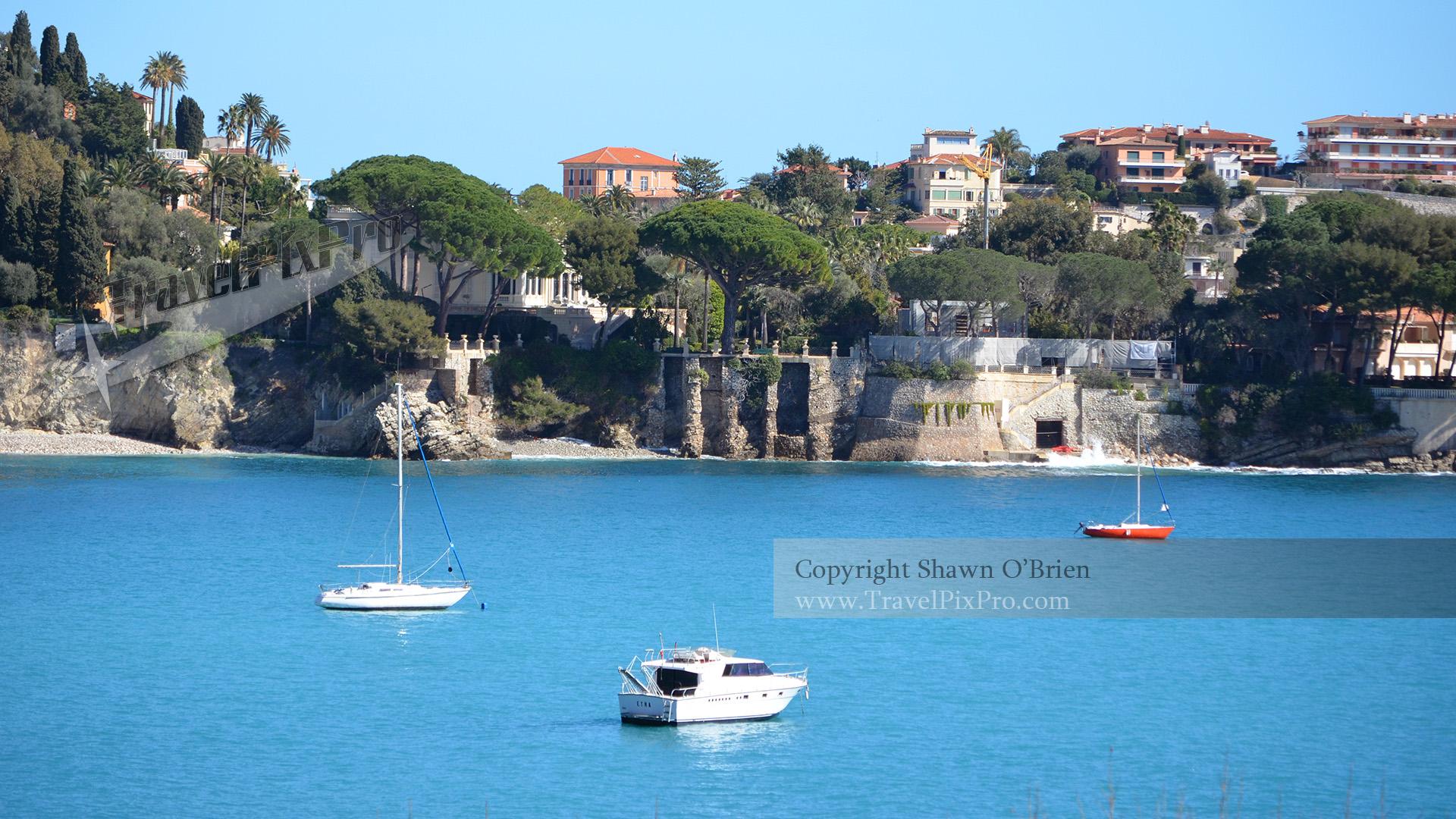 Boats on Cote d'Azur Villefranche