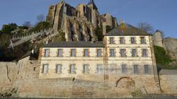 Barracks Below Mont St Michel Abbey