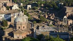 Overlooking the Roman Forum