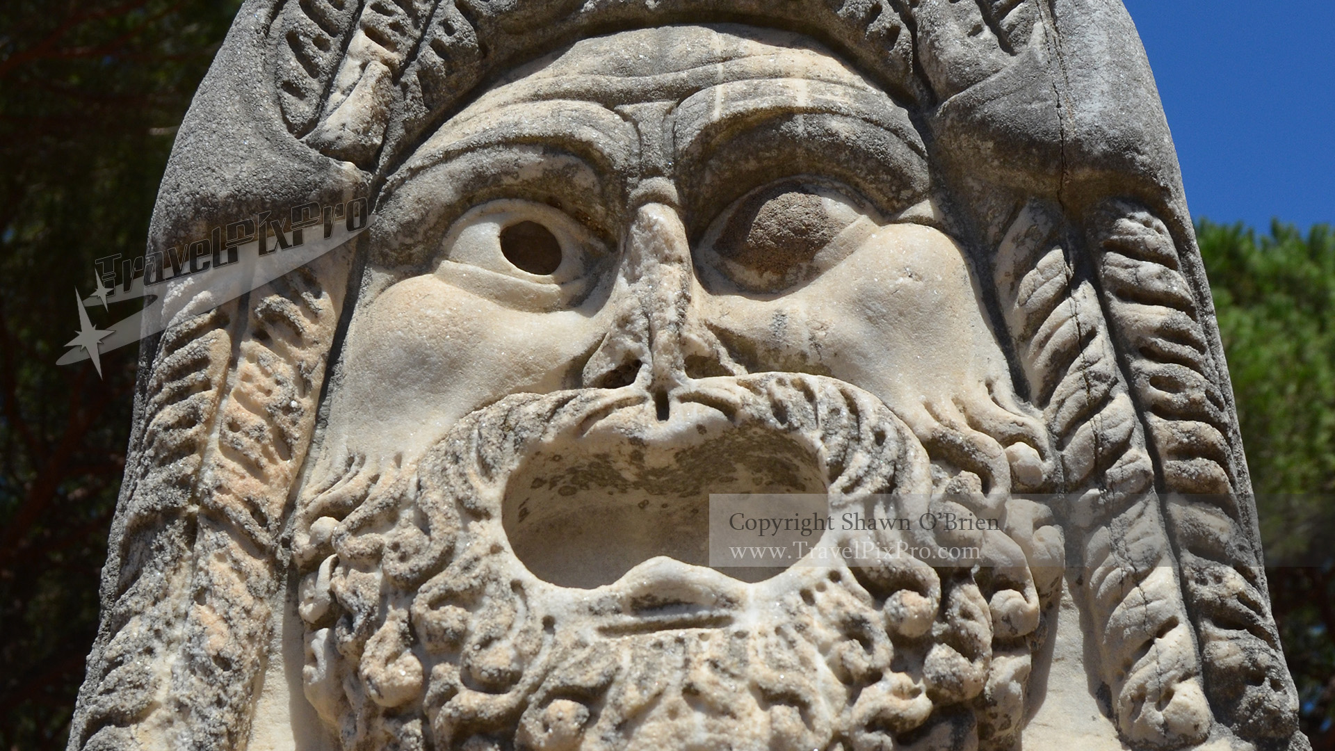 Ostia Antica Theatre Stone Face Mask