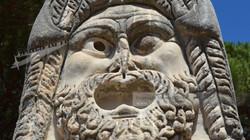 Ostia Antica Theatre Stone Face Mask