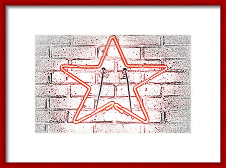 Red Neon Star