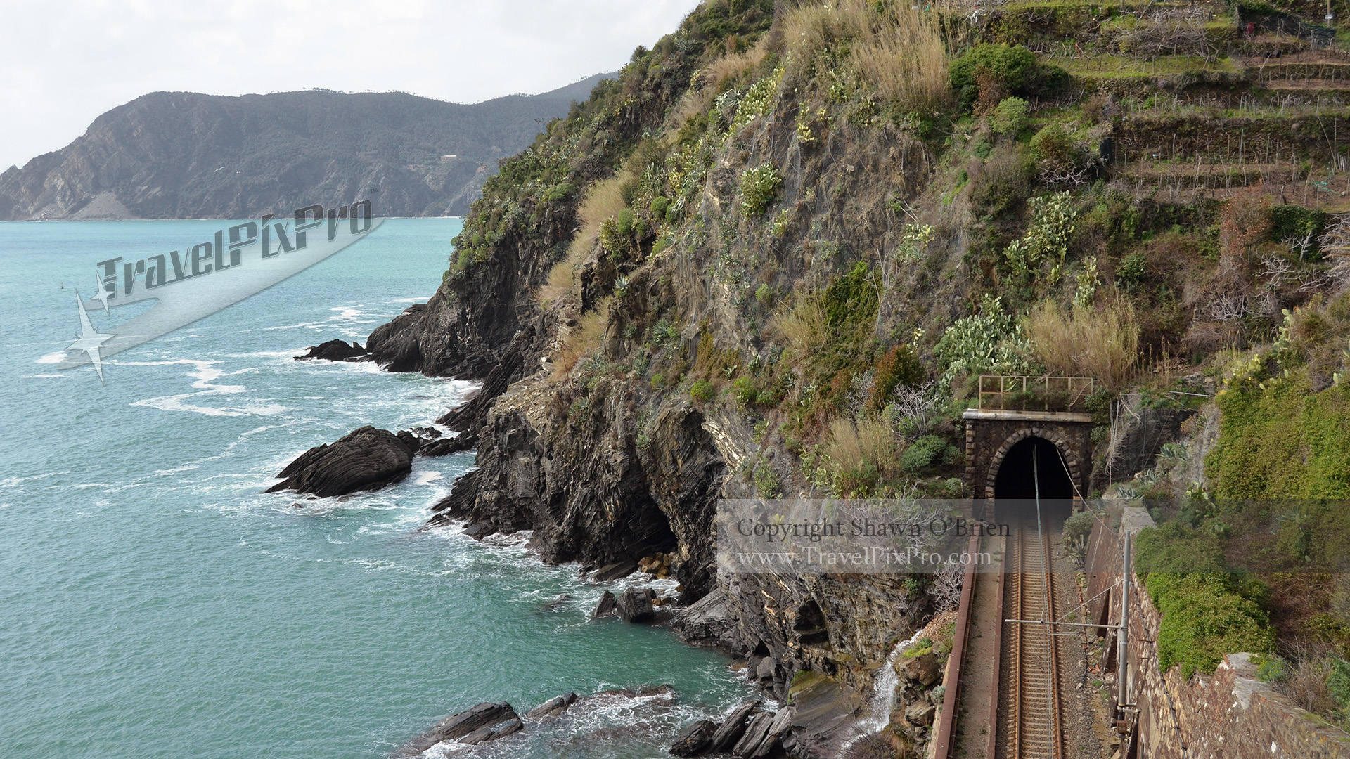 Cinque Terre Train Tracks & Tunnel