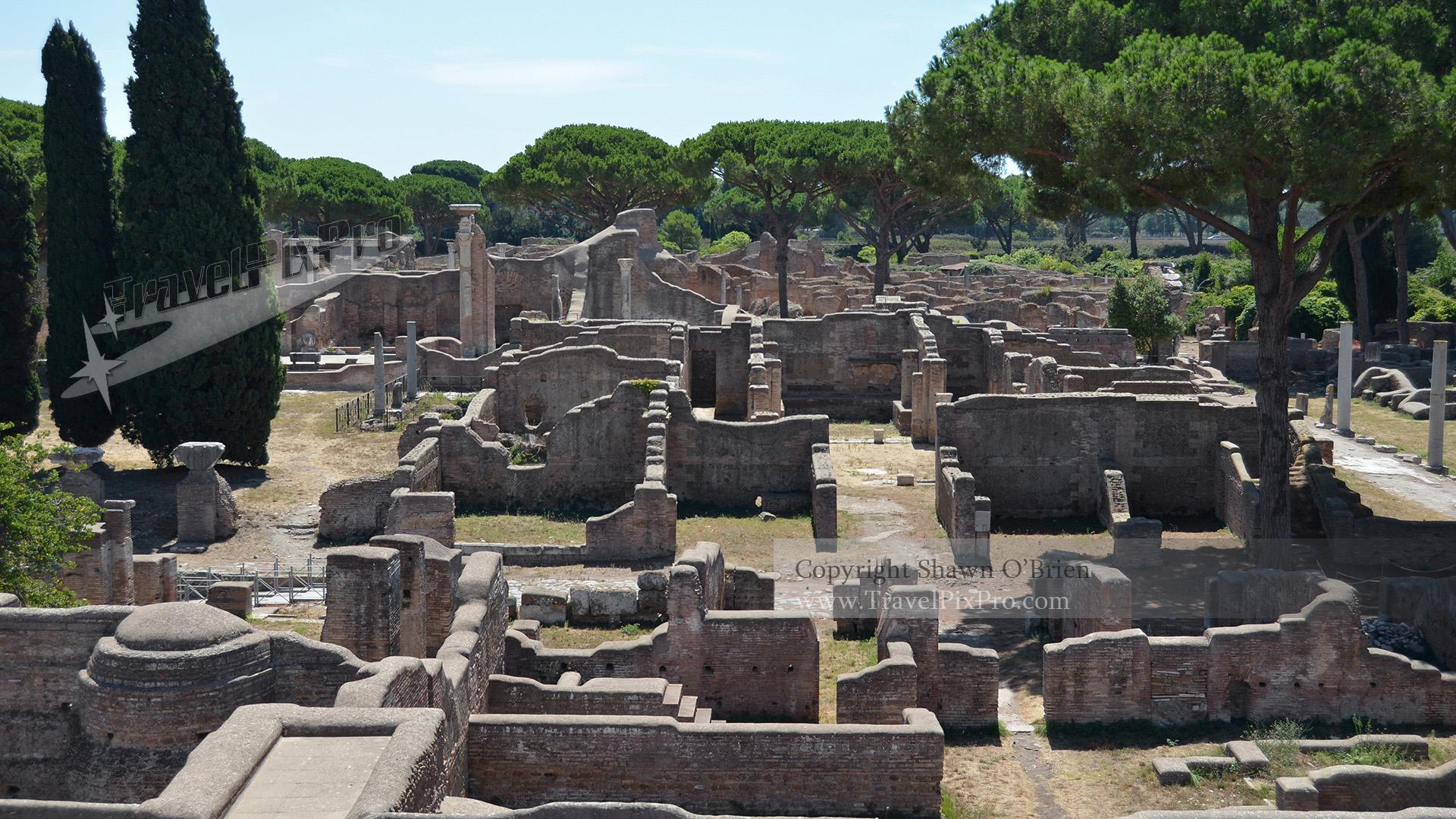 Overlooking Ostia Antica Ruins