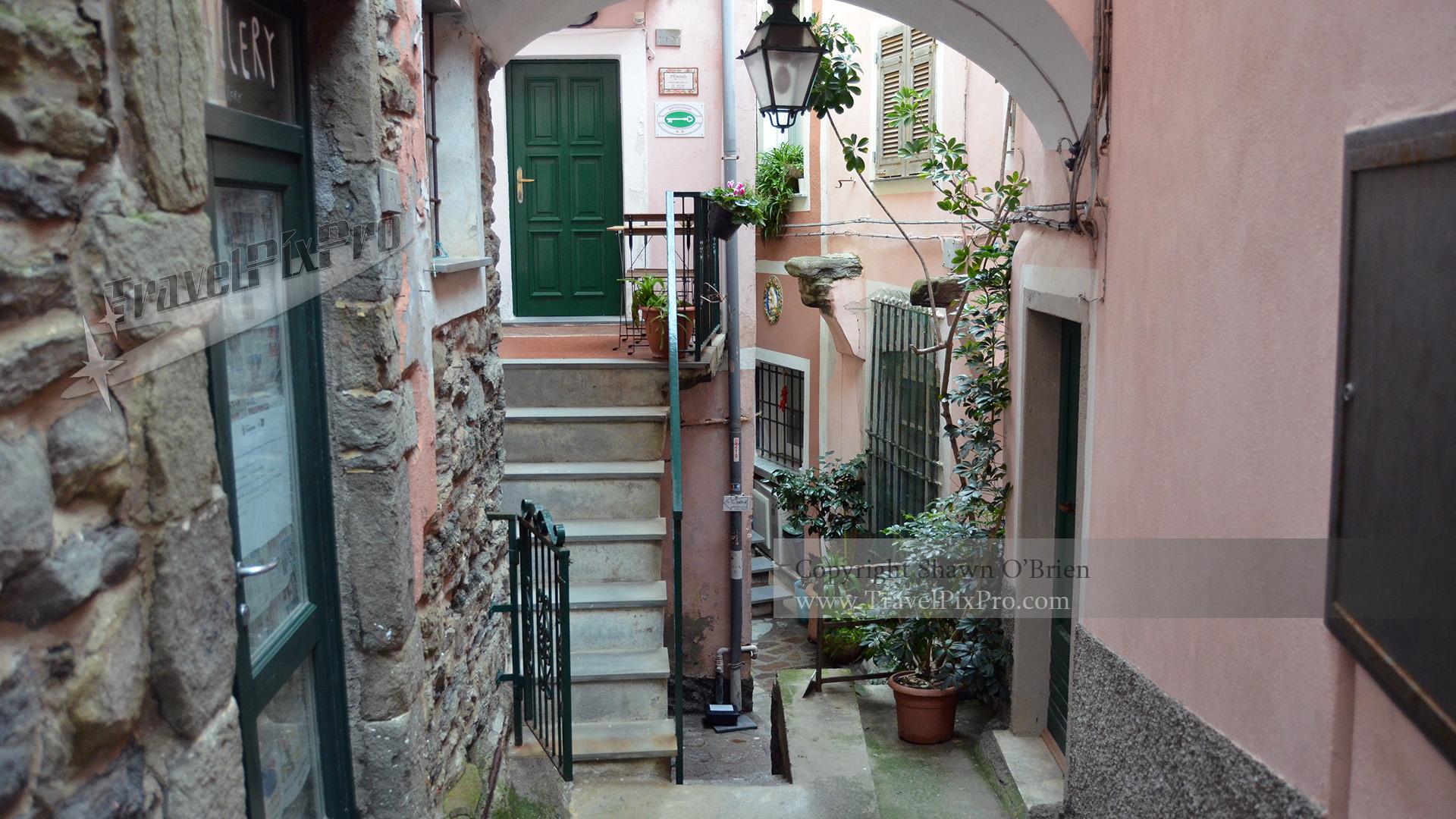 Corniglia Cinque Terre Street Scene