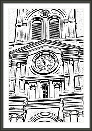 St. Louis Cathedral Clock Tower Detail