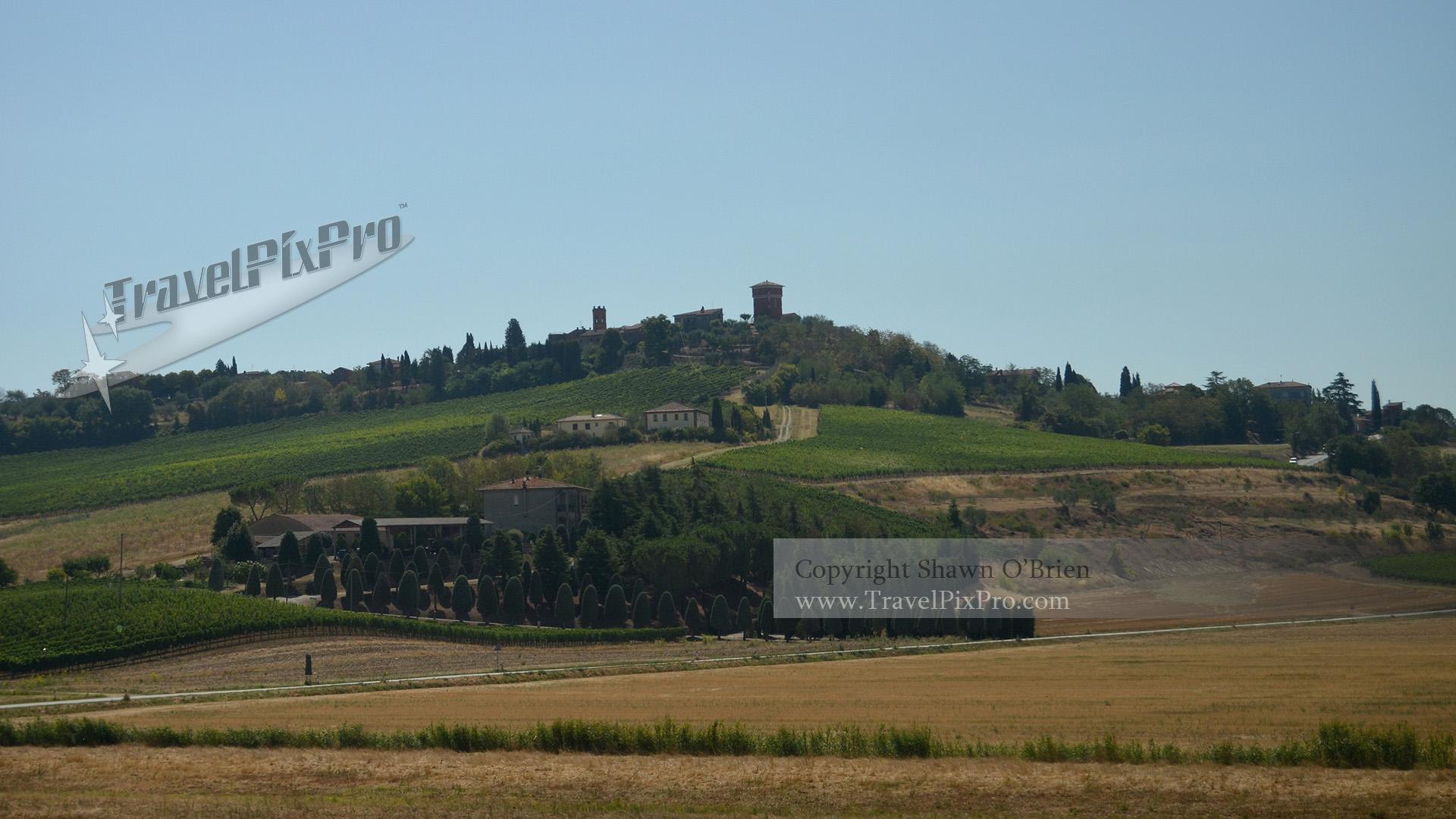 Italian Hilltop Town and Farm