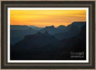 Orange Sunset Twilight Over Silhouetted Spires
