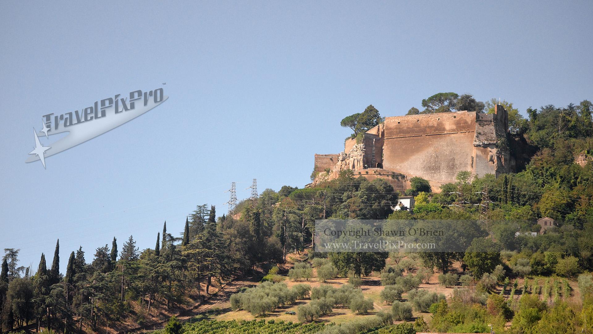 Italian Hilltop Castle Ruins