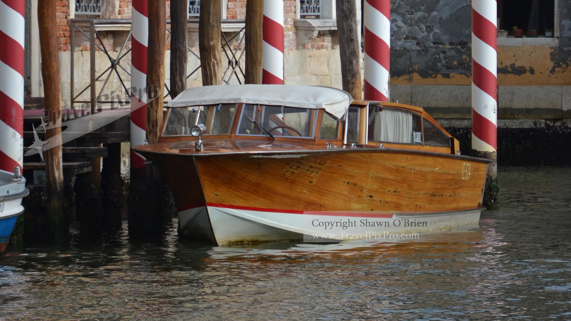 Classic Venetian Wood Runabout Boat