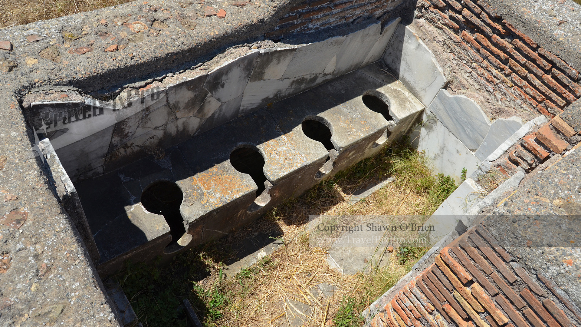 Ostia Antica Public Bathroom