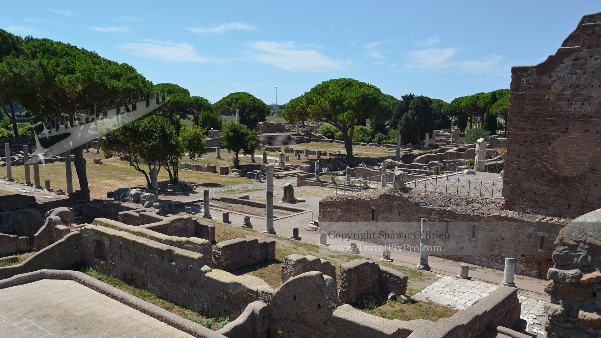 Ostia Antica Forum View