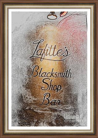 Stylized Lafitte's Blacksmith Shop Bar Sign