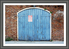 Urban Big Easy Blue Garage Door