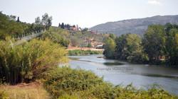 Italian River and Villa View