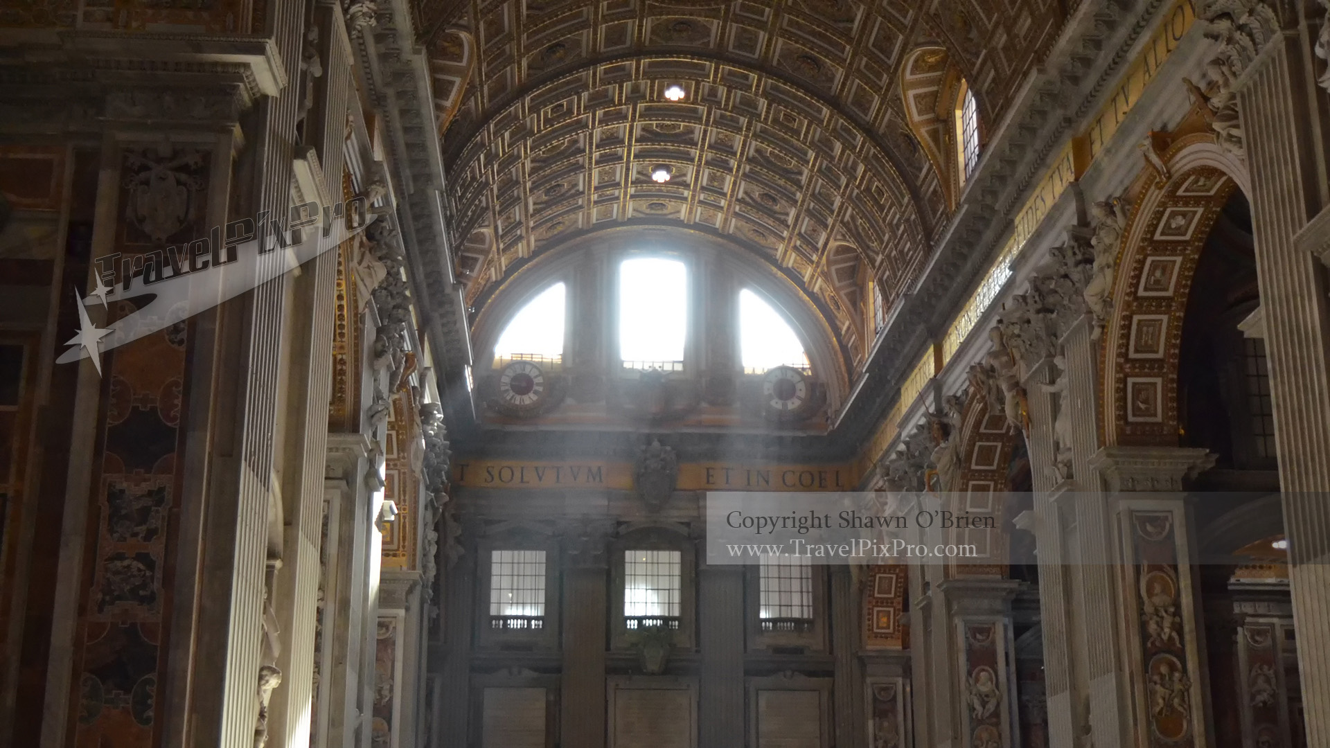 Sunrays in St. Peter's Basilica