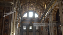Sunrays in St. Peter's Basilica