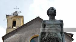 Corniglia 5Terre Italy Church Bronze