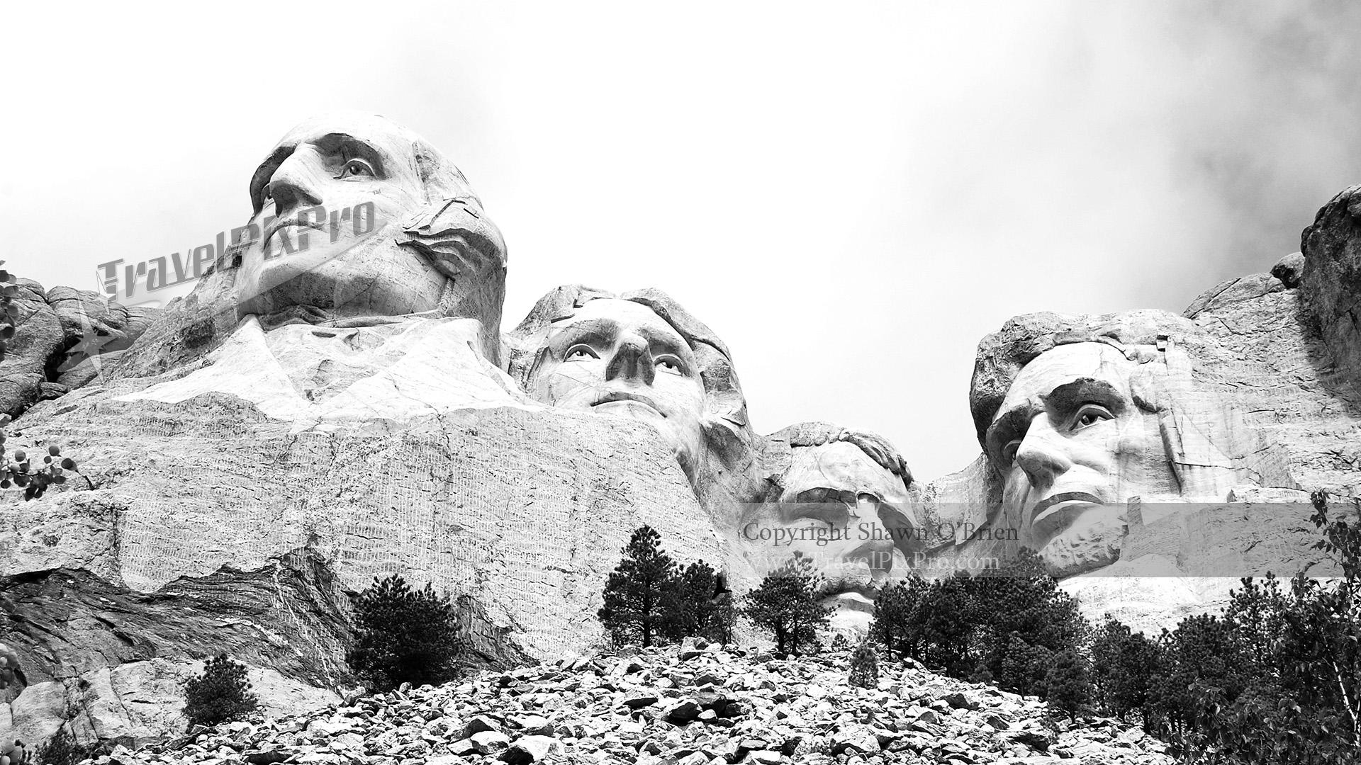 Below Mount Rushmore