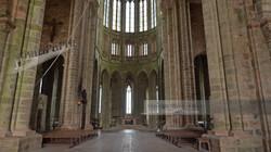 Mont Saint Michel Abbey Interior