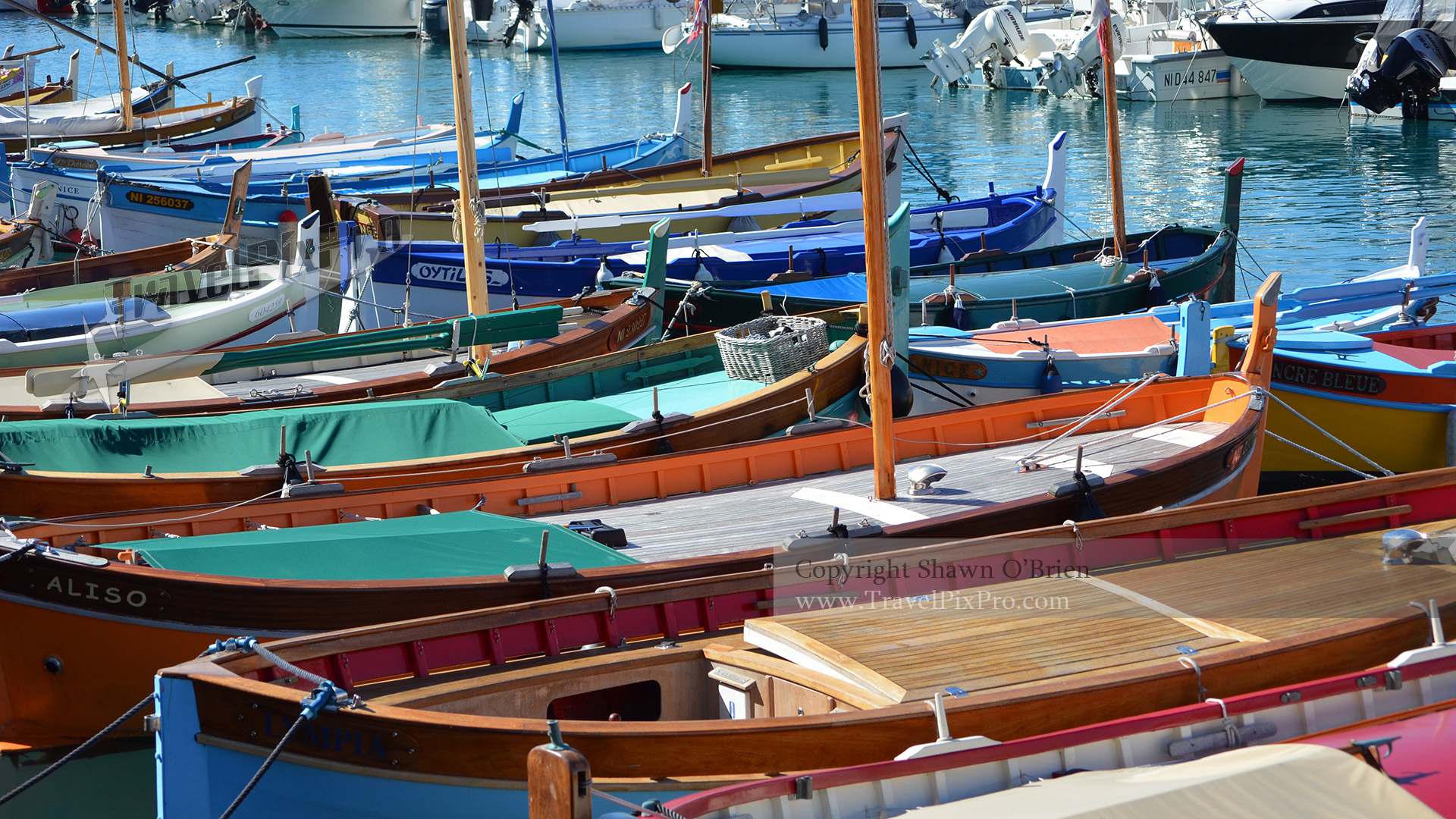 Boats Moored in Port of Nice