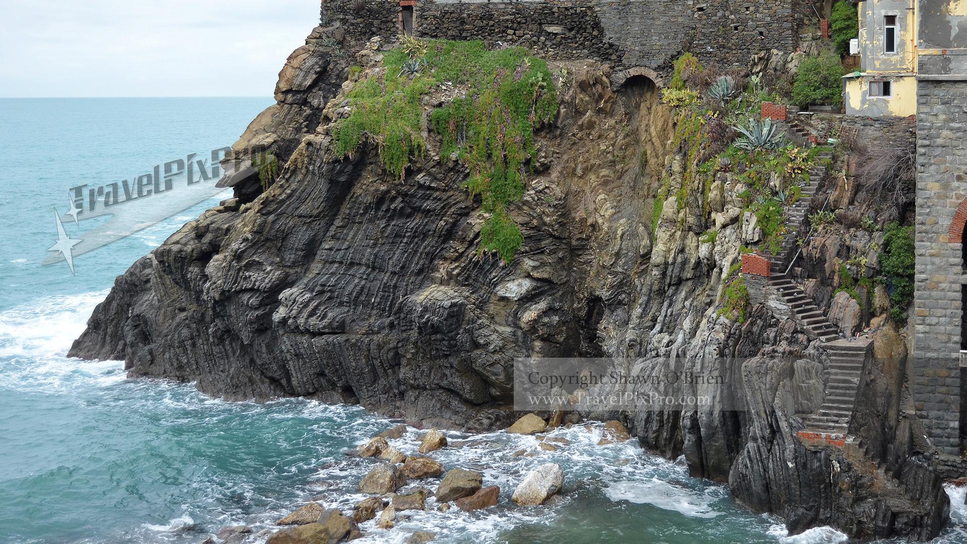 Cinque Terre Cliff Stone Stairway