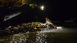Riomaggiore Harbor Scene at Night
