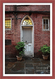 Stylized Arched Door and Bricks