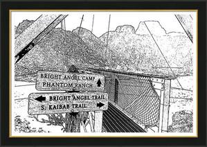Silver Bridge Signs Over Colorado River