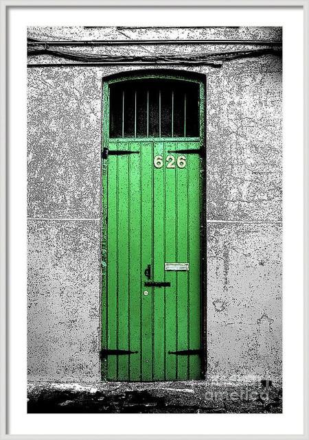 Vibrant Green Door