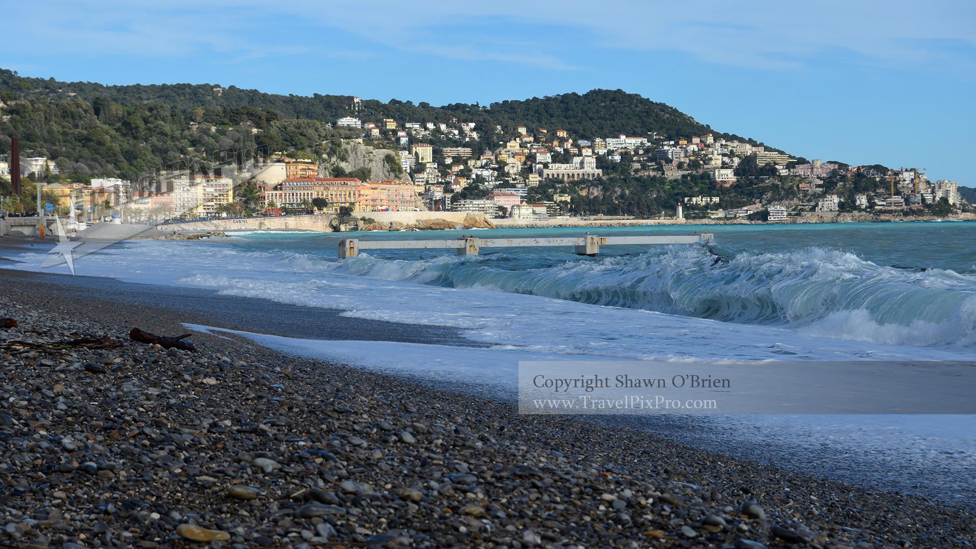 Breaking Waves on Nice Beach