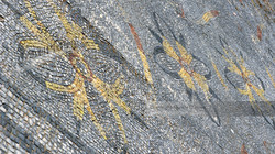 Colorful Tile Mosaic Ostia Antica