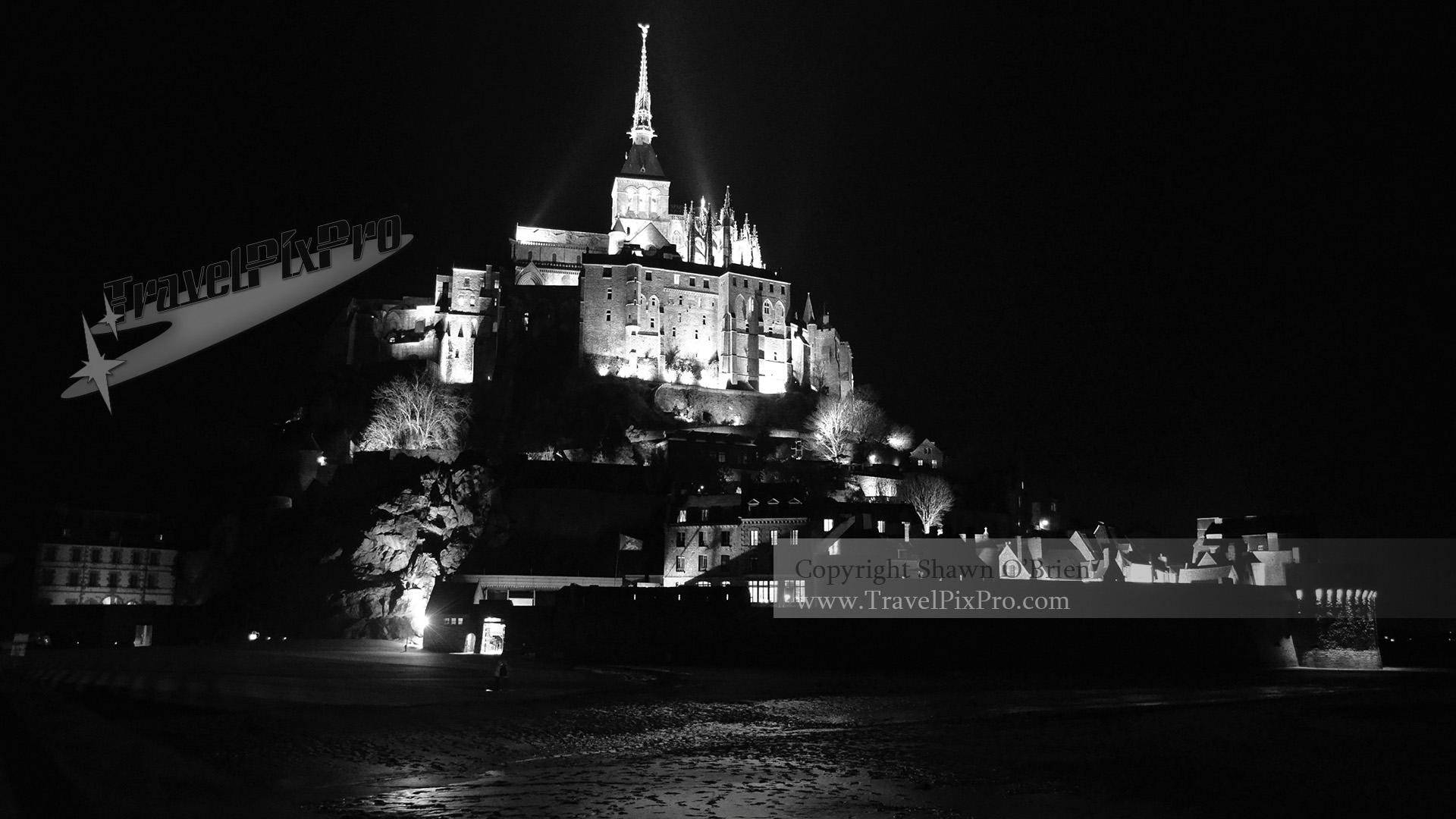 Illuminated Mont St Michel