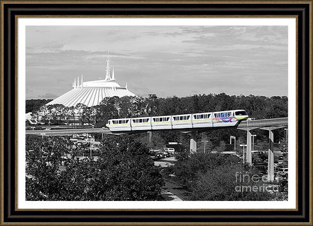 Disney World Monorail and Space Mountain