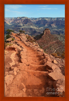 Grand Canyon South Kaibab Trail And Oneill Butte Vertical